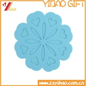 Eco-Friendly Colorful Silicone Cup Mat with Flowers Pattern pictures & photos