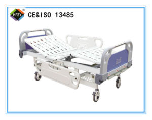 (A-40) Movable Three-Function Manual Hospital Bed with ABS Bed Head