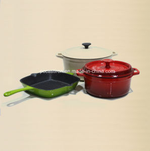 Enamel Cast Iron Cookware Set in 3PCS for European Country pictures & photos