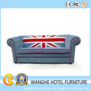 Hot Sale The Union Jack Design Office Wood Fabric Sofa pictures & photos