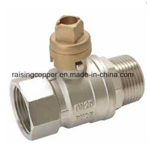 Brass Lockable Ball Valve with Square Handle pictures & photos