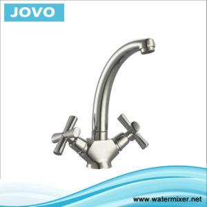 New Design Double Handle Kitchen Mixer&Faucet Jv74407 pictures & photos