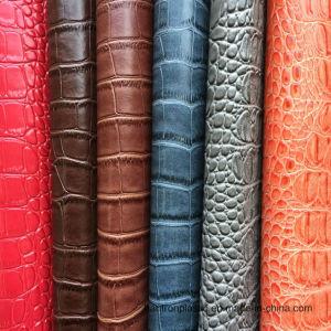Orange Faux Crocodile Leather pictures & photos