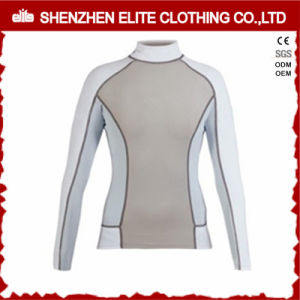 2017 Newest Design White Long Sleeve Rashguards Women UV (ELTRGI-44) pictures & photos