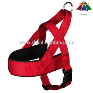 Hot-Sale High-Quality Solid Color 15mm Adjustable Polyester Dog Harness pictures & photos