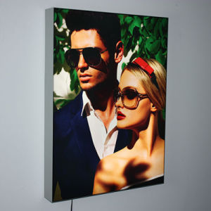 Top Popular Aluminum Tension Fabric Light Box Frame for Advertising pictures & photos