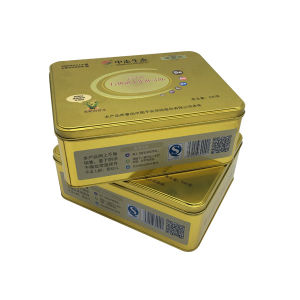 Gold Color Tin Box Packing Biscuit Cookie pictures & photos