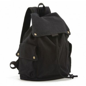 Girls/Ladies Fashion Casual Rucksack High School Bags Canvas Drawstring Backpack pictures & photos
