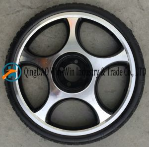 Flat-Free PU Wheel Used on Wheelchair Wheel pictures & photos
