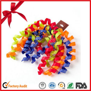 Christmas Scene Colorful Curling Ribbon Bows pictures & photos