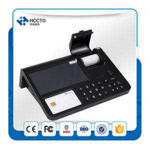3G WiFi Bluetooth NFC/RFID Card Reader Desktop Android POS Terminal (HPC701) pictures & photos