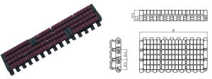 1005 Roller Top Modular Belt, Lbp Belt pictures & photos