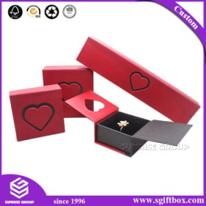 Heart Shape Handmade Rigid Cardboard Packaging Gift Jewelry Box pictures & photos