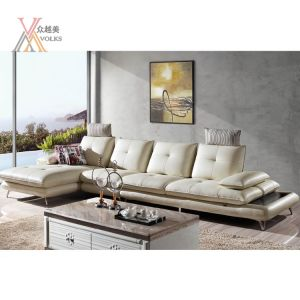 Living Room White Micro Leather Sofa (1637A#) pictures & photos