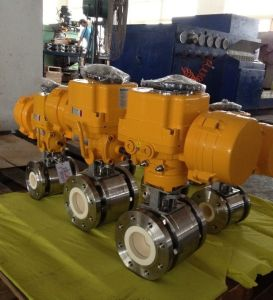 Anti-Abrasive Pneumatic Ceramic Lined Ball Valve pictures & photos