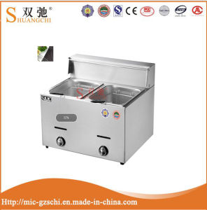 2-Tank 2-Basket Stainless Steel Gas Deep Fryer pictures & photos