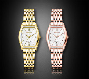 Square Stainless Steel Diamond Ladies Wrist Watch pictures & photos