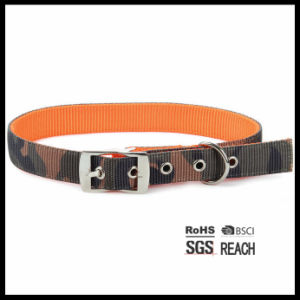 Double Layers Camo Printed Rivet Nylon Pet Dog Collar Belt pictures & photos