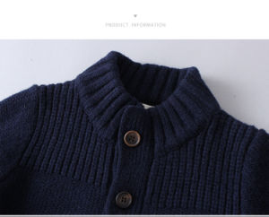 100% Lamswool Kids Children Clothes Knitted Sweater Cardigan for Boys pictures & photos