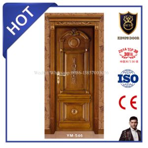 Solid Wood Door Material and Interior Position Wooden Door pictures & photos
