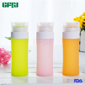 Multi-Sized Cylinder Shaped Portable Food Grade Silicone Trave Bottle pictures & photos