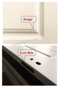 Wooden HDF PVC Film Glass Door for School/Office pictures & photos