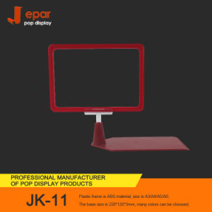 Wholesale Jk-11 Table Pop Plastic Sign Frame with Plastic Foot Stand pictures & photos
