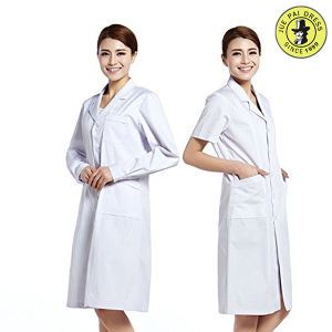 Factory OEM Service Fashionable Lab Coat Unisex White Cotton Medical Hospital Uniform Design pictures & photos