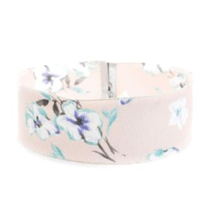 Navy Blue White Pink Printing Cloth Chiffon Wide Choker Necklace pictures & photos