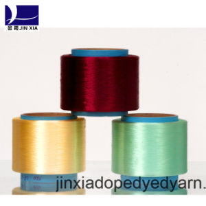 FDY Dope Dyed 500d/96f Filament Polyester Yarn pictures & photos
