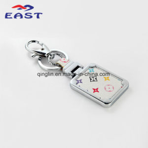 Promotion Custom Printed Logo Coloring Leather Keyholder pictures & photos