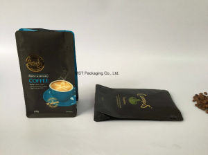 Paper Coffee Bag/ Plastic Coffee Pouch/Flat Bottom Bags with Valve and Zipper pictures & photos