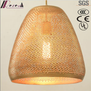 Gold Fashion Round Hollow Pendant Light with Dining Room pictures & photos