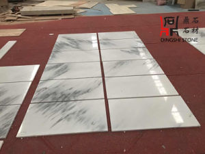 Natural Stone Dark Jade White Marble Tiles for Building Material pictures & photos
