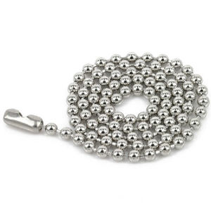"""30"""" Metal Ball Chain Neckalce with Connector for Badge pictures & photos"""
