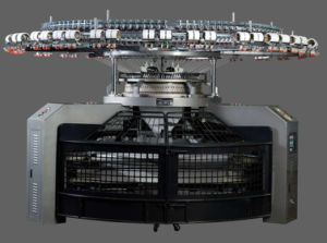 High Speed 4 Tracks Single Jersey Open-Width Knitting Machine pictures & photos