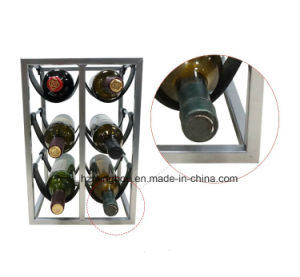 Creative PU Leather Wine Rack Metal Display pictures & photos