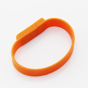 USB Memory Flash Disk with Silicone Bracelet pictures & photos