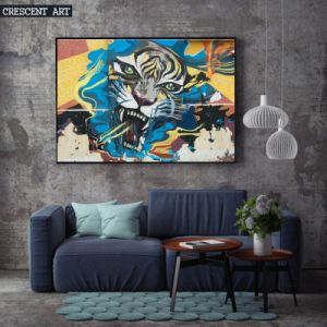Canvas Tiger Portrait Wall Decor pictures & photos