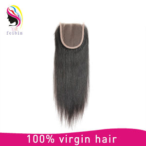 100% Wholesale Virgin Brazilian Straight Hair Closure 4*4 pictures & photos