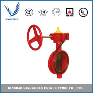 Wafer Type Fire Protection Butterfly Valve Dn150 pictures & photos