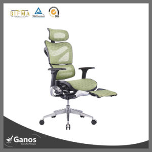 Green Mesh Swivel Chair with Adjustable Footrest pictures & photos