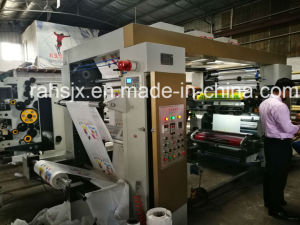 Four Colors 800mm Poly Bag Film Flexo Printing Machine pictures & photos