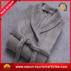Luxury Customized Grey Cotton Fleece Hotel Bathrobe pictures & photos