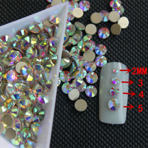 Austrian Crystal 10-16 Facets Sparkle Crystal Ab Machine Cut Crystal Stone for Latin Dress (FB-ss16 crystal ab) pictures & photos