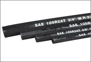 SAE 100 R2 Steel Wire Reinforced Rubber Covered Hydraulic Hose pictures & photos