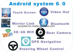 New Ui Android 6.0 Car Navigation for Corolla Ex 2007 with Car Player pictures & photos