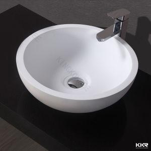 Kkr Artificial Stone Hotel Vanity Round Bathroom Sink pictures & photos
