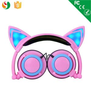 Fashion Stereo Wired Foldable LED Light Cat Ear Headphone pictures & photos