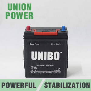 Mf Auto Battery 38b20L JIS 12V36ah High Quality Car Battery pictures & photos
